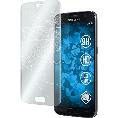 myTech® Samsung Galaxy S7 Full Cover Schutzglas Hartglas Panzerglas Folie Echtglas Glas 100% Displayschutz Schutzfolie Panzerfolie Displayschutzfolie Premium 0,3mm Tempered Glass Screen Protector