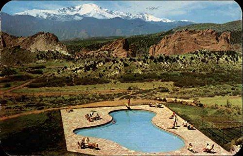 viewing pikes peak from the garden of the gods club colorado springs colorado original vintage - Garden Of The Gods Club