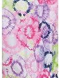 KOI Prints Women's Delaney V-Neck Tie Dye Print Scrub Top Large Print