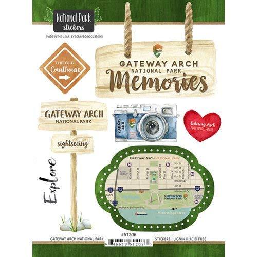 - Scrapbook Customs 61206 Gateway Arch National Park Missouri Watercolor Stickers