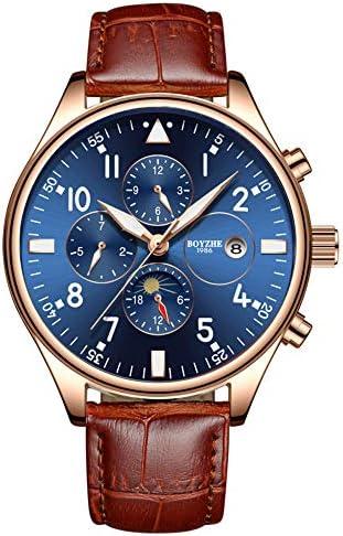 Men s Automatische Mechanische Watch, Fashion Business Watch for Men Stainless Black Steel Tourbillon Moon Phase Waterproof relojes de Hombre