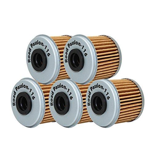 (Road Passion High Performance Oil Filter for HONDA TRX450R 450 06-09 2012 TRX450 R 444 04-05 TRX450ER 450 06-09 12-14(pack of 5))