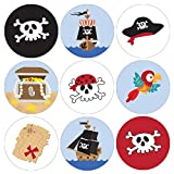 Pirate Birthday Party Favor Labels - 180 Stickers