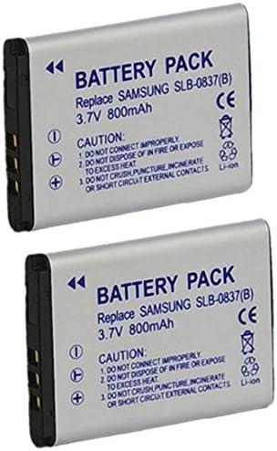 SLB0837B Bater/ía de Litio Recargable Compatible para c/ámara//videoc/ámara Digital para Samsung SLB 0837B