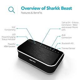 SHARKK BEAST 45W Bluetooth Speaker 2.1 Channel Wireless Speaker with Subwoofer Powerful Home Speaker with 4400mAh Powerbank