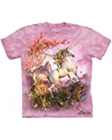 Awesome Unicorn Rainbow Youth Kids Child The Mountain T-Shirt