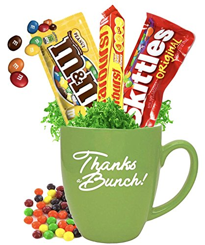 Thanks a Bunch Candy Gift Mug/Best Thank you Mug/Teacher Thanks/Corporate Candy Thank You/Halloween Thank You Candy -