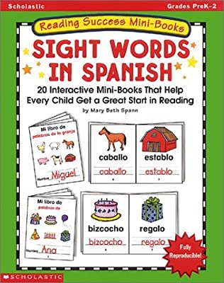 Amazon.com: Reading Success Mini-books: Sight Words In Spanish (0078073141159): Mary Beth Spann: Books