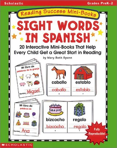 Reading Success Mini-books: Sight Words In Spanish