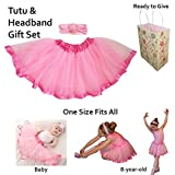 Lovely childrens petti tutu skirts, one size fits all ages of girls. Unique baby gifts (Pink)