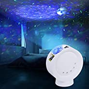 Star Projector Galaxy Moon Night Light for Kids Bedroom Remote Control 4000mAh Battery Nebula Projector Lamp f