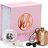 Womens High Fidelity Concert Earplugs - Ergonomic Small Ear Hearing Protection, Reusable Ear