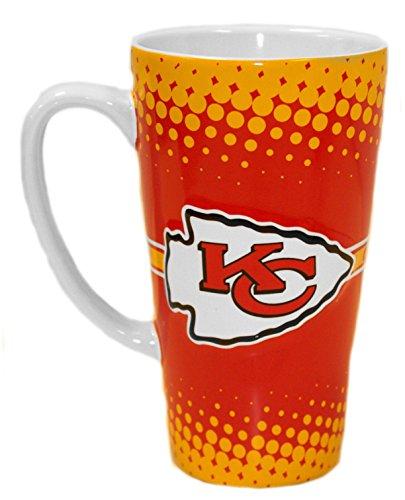 Boelter Brands NFL Kansas City Chiefs Sculpted Latte Mug, 16-Ounce