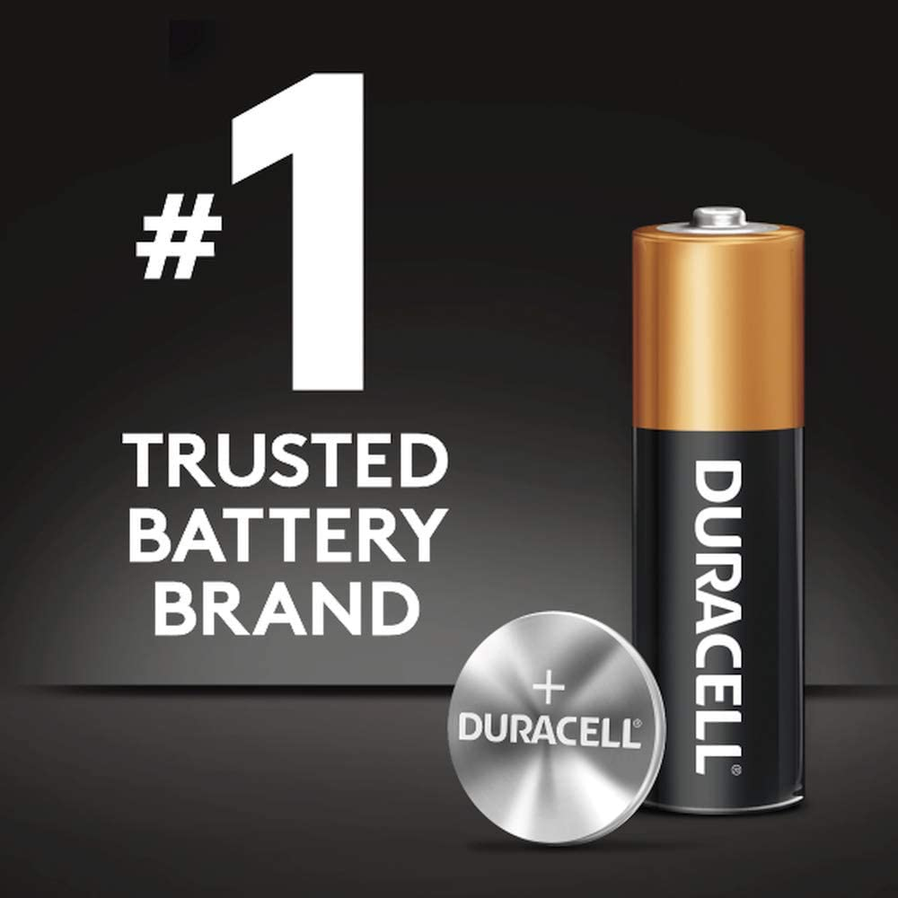 2018 Or Better Duracell 76A LR44 Duralock 1.5V Button Cell Battery 12 Pack Exp Replaces: LR44, CR44, SR44, 357, SR44W, AG13, G13, A76, A-76, PX76, 675, 1166a, LR44H, V13GA, GP76A, L1154, RW82B, EPX76, SR44SW, 303, SR44, S303, S357, SP303, SR44SW Durace
