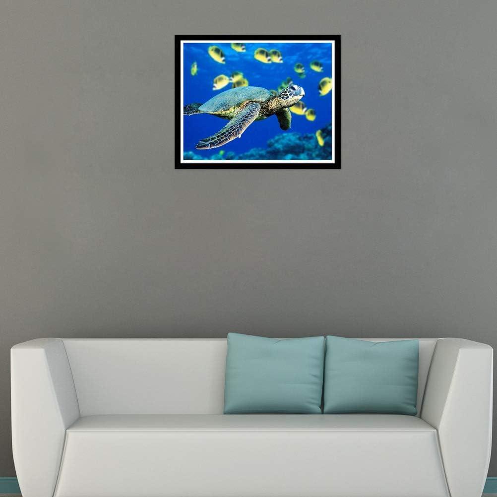 Meeresschildkr/öte Fotokunst Vosarea DIY 5D Diamant-Malerei Dekoration zu Hause Kreuzstich Wanddekoration