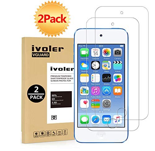 ivoler [2 Pack] [Tempered Glass] Screen Protector Compatible iPod Touch 7G 2019 6G 5G (7th 6th 5th Generation), 0.2mm Ultra Thin 9H Hardness 2.5D Round Edge,Anti Scratch and Bubble-Free (Ipod 5 Privacy Screen Protector)