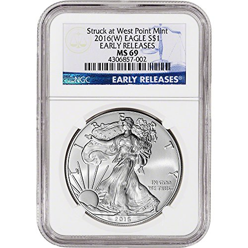 2016 (W) American Silver Eagle (1 oz) Early Releases $1 MS69 NGC