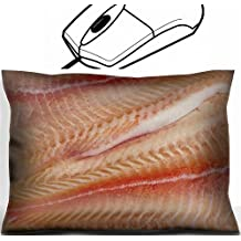 MSD Mouse Wrist Rest Office Decor Wrist Supporter Pillow design 20749023 Pangasius fillets of raw fish macro shot