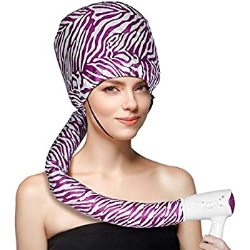 Bonnet Hood Hair Dryer Attachment - EQARD Adjustable Hooded Dryer, Portable Hair Salon Heat Cap with Travel Bag for Drying,Styling,Curling and Deep Conditioning,Relax, Speeds Up Drying Time at Home