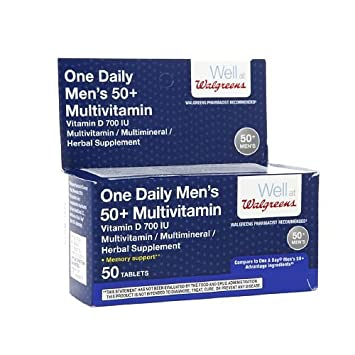 Walgreens One Daily Mens 50+ Multivitamin Tablets 50 ea