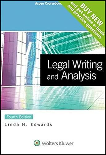linda edwards legal writing and analysis