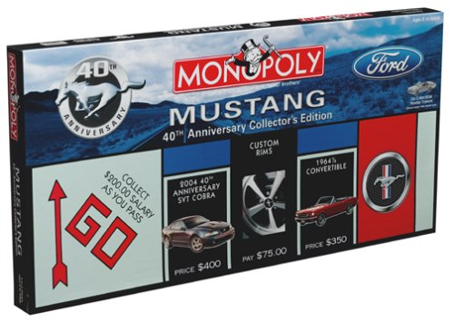 Anniversary Collectors Edition Monopoly - Mustang Monopoly 40th Anniversary Collectors Edition