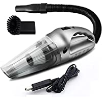 【5 in 1】Cordless Car Vacuum Cleaner Handheld Vacuum Cleaner - Rechargeable,120W,75dB Silent Pet Hair Vacuum With LED Light For Home And Car Cleaning,Cyclonic Suction Wet/Dry Use.