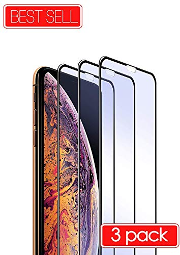 Fits Apple iPhone XR / 9 Tempered Glass Screen Protector Screen Tempered Glass Premium Protective Film 3X