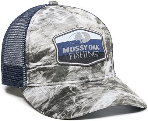 Mossy Oak MOFS16A Outdoor Cap Manta Navy Mesh Back Fishing Cap Blue