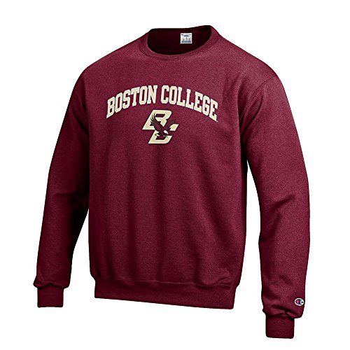 Elite Fan Shop NCAA Boston College Eagles Men's Team Color Crewneck Sweatshirt, Garnet, X-Large