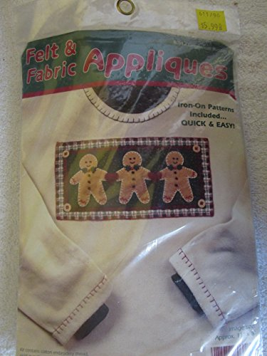 Felt & Fabric Appliques Kit Gingerbread Buddies Holiday Fashion Art by Dimensions