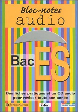 Livre Bloc-notes : Bac ES (1 livre + 1 CD audio) pdf, epub ebook
