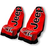 Yupbizauto for Jeep New Car Seat Towel Covers Skin Red Pair Perfect Protector for The Seat