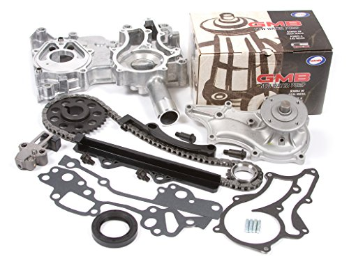 Evergreen TCK2000WP 85-95 Toyota 2.4 SOHC 8V 22R 22RE 22REC Timing Chain Kit w/ Timing Cover GMB Water Pump (Timing Chain Toyota 22r compare prices)