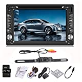 iMeshbean 6.2'' 16: 9 High Resolution Capacitive Touchscreen Car GPS Navigation System sat nav HD Double 2 DIN Car Stereo DVD Player Bluetooth iPod MP3 TV + Car Wireless Backup Camera