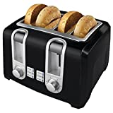 Best Hardware Supply Mall 2 Slice Toasters - BLACK+DECKER T4569B 4-Slice Toaster, Bagel Toaster, Black Review