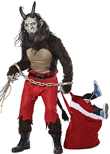California Costumes Men's Krampus the Christmas Demon, Brown/Red, Large -