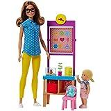 Boneca Barbie Profissões - Professora Morena e Playset / FJB30