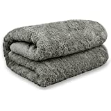 Luxury Hotel & Spa Towel Turkish Cotton Oversized Bath Sheets - Gray - (40x80 inches, Set of 1)