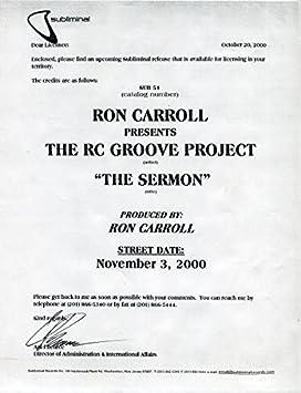 The Sermon: Ron Carroll, The RC Groove Project: Amazon.es: Música