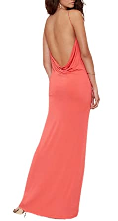 Lingswallow Womens Red Backless Elegant Strapless Sexy Maxi Party Prom Dress