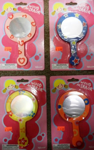 Toysmith Painted Wooden Mirror (Assorted Colors & Patterns)