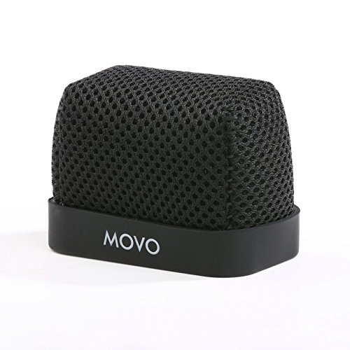 Movo WST-R10 Fitted Nylon Windscreen with Acoustic Foam Technology for Zoom IQ-6, Tascam DR-07 MKII, Sony PCM-M10 & Rode iXY Portable Digital Recorders Nylon Windscreen