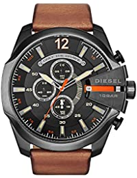 DZ4343 Mens Mega Chief Chronograph Tan Leather Strap Watch