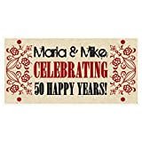 Antique 50th Wedding Anniversary Banner Personalized Party Decoration - Any Year