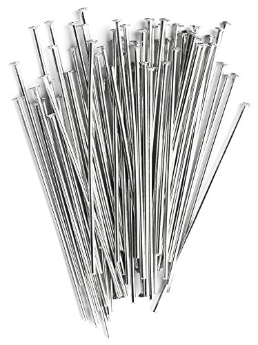 - Cousin Corporation of America 35mm Stainless Steel Silver Head Pins - 55pc