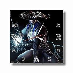 Art time production FBA Mortal Combat 11.8'' Handmade Unique Wall Clock - Get Unique décor for Home or Office – Best Gift Ideas for Kids, Friends, Parents