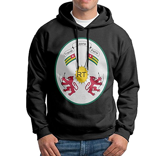 X-JUSEN Men's Coat Of Arms Of Togo Hoodies Hooded Sweatshirt Pullover Sweater, Long Sleeves Hooded Costumes Kit]()