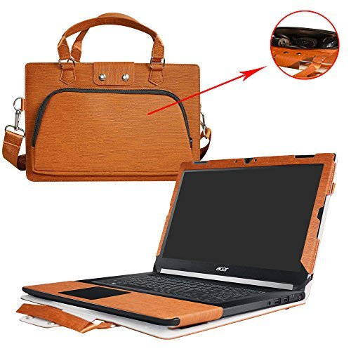Aspire 7 15 Case,2 in 1 Accurately Designed Protective PU Leather Cover + Portable Carrying Bag for 15.6