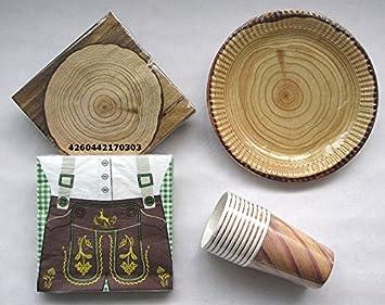 Amazon De Bayerisch Tischdeko Holzfaller Urig 4er Set Servietten
